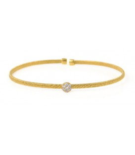 PULSERA RIGIDA SIMPLE DORADO/1 ELE DO ZB BRB244-3