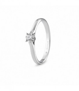 ANILLO ORO BLANCO CON 1 DIAMANTE 0.14CT 74B0504