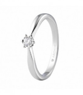 ANILLO DE ORO CON 1 DIAMANTE 0.08CT 74B0513