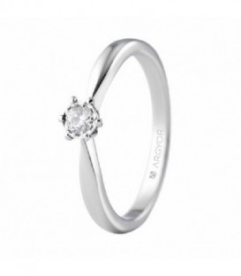 ANILLO ORO BLANCO CON 1 DIAMANTE 0.20CT 74B0515