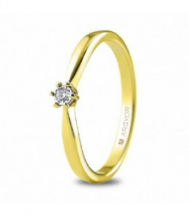 ANILLO ORO AMARILLO CON 1 DIAMANTE 0.03 74A0511