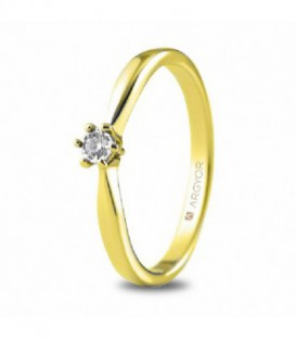 ANILLO 1 DIAMANTE TALLA BRILLANTE 0,05CT 74A0512