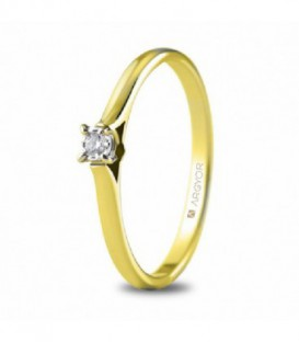 ANILLO 1 DIAMANTE TALLA BRILLANTE 0,03CT 74A0501