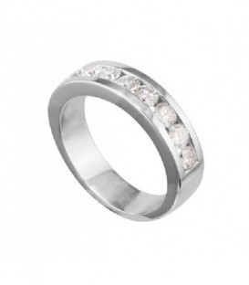 ANILLO DE ORO BLANCO CARRIL DE DIAMANTES 01-112248