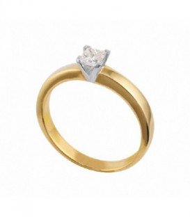 ANILLO DE ORO AMARILLO. DIAMANTE 01-970729