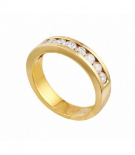 ANILLO DE ORO AMARILLO CARRIL DIAMANTES 01-940234