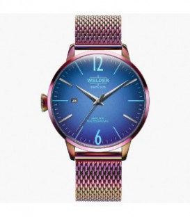 WELDER 42 MM 3H MULTI SS MESH BLUE DIAL WRC818
