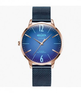 WELDER 36MM 3H SLIM BLUE SS MESH BLUE DI WRS607