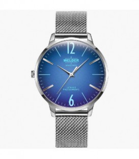 WELDER 36MM 3H SLIM SS MESH BLUE DIAL WRS620