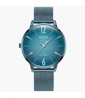 WELDER 36MM 3H SLIM BLUE SS MESH BLUE DI WRS623