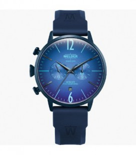 WELDER 45MM DUAL TIME BLUE SILICONE WWRC513