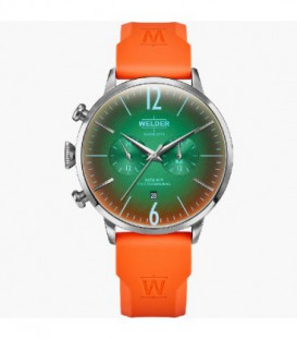 WELDER 45MM DUAL TIME ORANGE SILICONE WWRC516