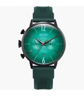 WELDER 45MM DUAL TIME GREEN SILICONE WWRC517