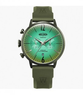 WELDER 45MM DUAL TIME GREEN SILICONE WWRC519