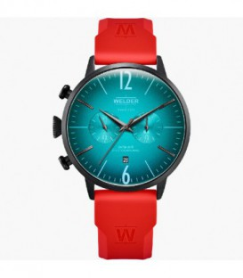 WELDER 45MM DUAL TIME RED SILICONE WWRC521