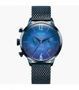 WELDER 38MM DUAL TIME BLUE SS BLUE DIAL WWRC603