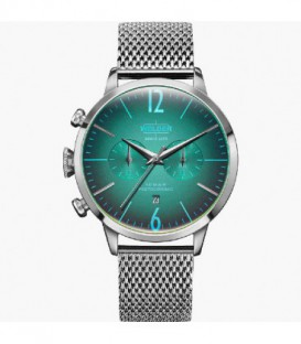 WELDER 42MM DUAL TIME SS MESH GREEN DIAL WWRC801