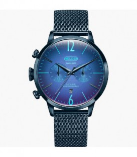 WELDER 42MM DUAL TIME BLUE MESH BLUE D WWRC803