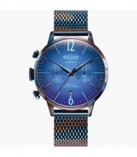 WELDER 42MM DUAL TIME BLUE SS MESH BLUE WWRC820