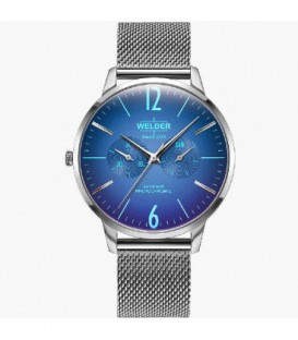 WELDER 42MM 3H SLIM SS MESH BLUE DIAL WWRS403