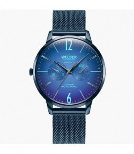 WELDER 42MM 3H SLIM BLUE SS MESH BLUE D WWRS414