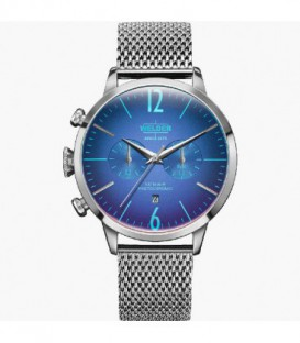 WELDER 42MM DUAL TIME SS MESH BLUE DIAL WWRC800