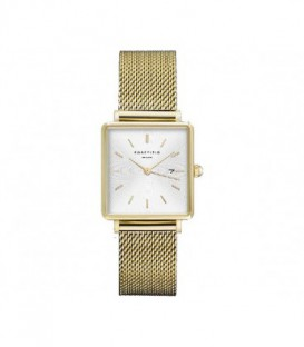 THE BOXY WHITE SUNRAY MESH GOLD QWSG-Q03