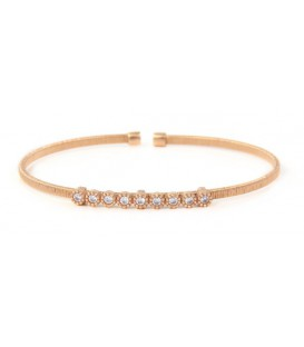 PULSERA RIGIDA SIMPLE ROSE/RS/9 CIRCON BRB245-2