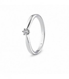 ANILLO ORO BLANCO CON 1 DIAMANTE 0.03CT 74B0511