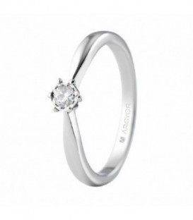 ANILLO ORO BLANCO CON 1 DIAMANTE 0.14 CT 74B0514