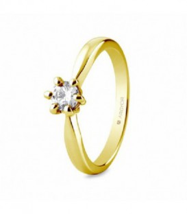 ANILLO 1 DIAMANTE TALLA BRILLANTE 0,34C 74A0040