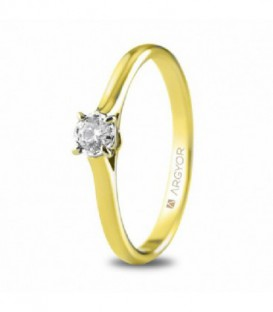 ANILLO ORO AMARILLO CON 1 DIAMANTE 0.14 74A0504