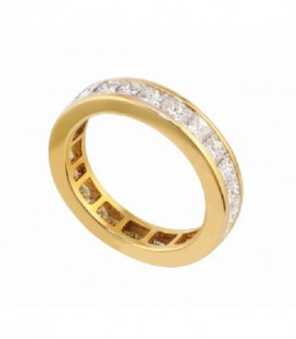 ANILLO DE ORO AMARILLO CARRIL DIAMANTES 01-980847