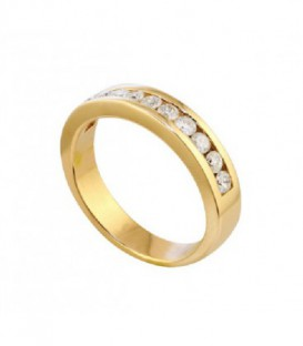 ANILLO DE ORO AMARILLO CARRIL DIAMANTES 01-282115A