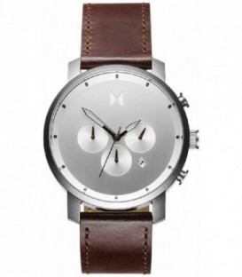 CHRONO 45MM ESF SILVER CORREA MARRON MC01-SBRL