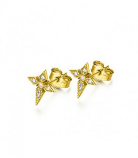 PENDIENTES CRUCES ORO 0,054 CTS GB102OA.00