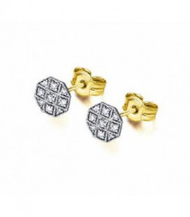 PENDIENTES BICOLOR ORO DIAMANTE 0,072 CT GB105OA.00